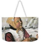 Girl With Fish Basket Weekender Tote Bag