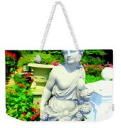 Girl With Grapes In Garden Weekender Tote Bag