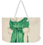 Girl With Green Dress Weekender Tote Bag