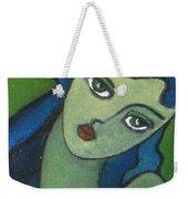 Girl With Green Eye Weekender Tote Bag