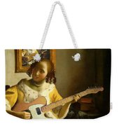Girl With Guitar Weekender Tote Bag