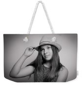 Girl With Hat Weekender Tote Bag