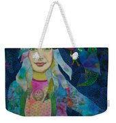 Girl With Kaleidoscope Eyes Weekender Tote Bag