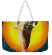 Girl With Leaves Weekender Tote Bag