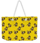 Girl With Popsicle Yellow Weekender Tote Bag
