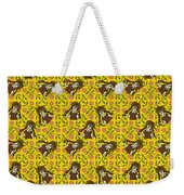 Girl With Popsicle Yellow Floral Weekender Tote Bag