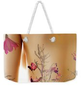 Girl With Spring Tattoo Weekender Tote Bag