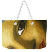 Girl With The Pearl Earring Close Up Weekender Tote Bag