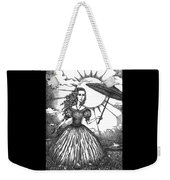 Girl With Umbrella Weekender Tote Bag
