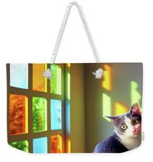 Girlie Goes To Church Weekender Tote Bag