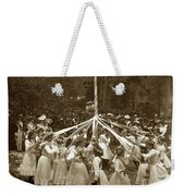 Girls  Doing The Maypole Dance Pacific Grove Circa 1890 Weekender Tote Bag