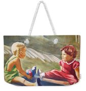 Girls Playing Ball  Weekender Tote Bag