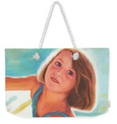 Girl's Portrait Weekender Tote Bag