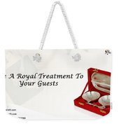 Give A Royal Treatment To Your Guests - Rustik Craft Weekender Tote Bag