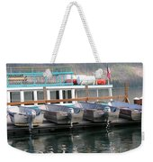 Glacier Boating Weekender Tote Bag