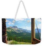 Glacier Chalet View Weekender Tote Bag