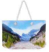 A Glacier In Mt. Rainier Weekender Tote Bag