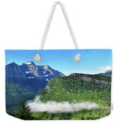 Glacier Mountain Above The Fog Weekender Tote Bag