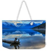Glacier Mountain Reflections Weekender Tote Bag