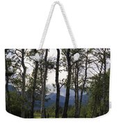 Glacier National Park Green Trees Mountains Weekender Tote Bag