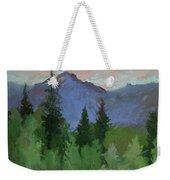 Glacier Nat'l Park - Plein Air -  Rising Wolf Ranch Weekender Tote Bag