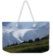 Glacier Tongue Scours The Valley Far Below Weekender Tote Bag