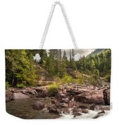 Glacier Waterfall Weekender Tote Bag