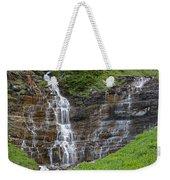 Glacier Waterfalls Weekender Tote Bag