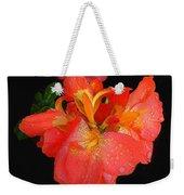 Gladiolus Bloom - Digital Art Weekender Tote Bag