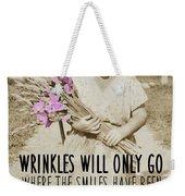 Gladiolus Quote Weekender Tote Bag