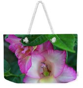 Gladys Blooms In A Blueberry Bush Weekender Tote Bag