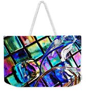 Glass Abstract 696 Weekender Tote Bag