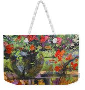Glass And Flowers Weekender Tote Bag