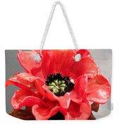 Glass Flower Weekender Tote Bag