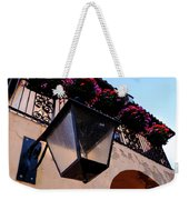 Glass Light Housing With Red Flower Architecture In Saint August Weekender Tote Bag