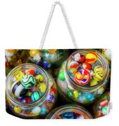 Glass Marbles In Containers Weekender Tote Bag