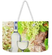 White Wine In Vineyard Weekender Tote Bag