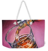 Glass Of Wine Original Oil Painting Weekender Tote Bag