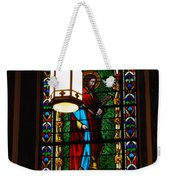 Glass Window Of Saint Philip In The Basilica In Santa Fe  Weekender Tote Bag