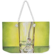 Glass With Melting Fork Weekender Tote Bag