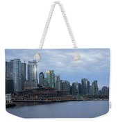 Gleaming Cityscape. Vancouver At Dawn  Weekender Tote Bag