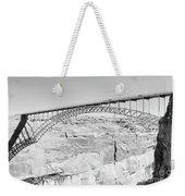 Glen Canyon Bridge Bw Weekender Tote Bag