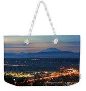 Glenn L Jackson Bridge And Mount Saint Helens After Sunset Weekender Tote Bag