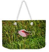 Gliding Spoonbill In Bayou Weekender Tote Bag