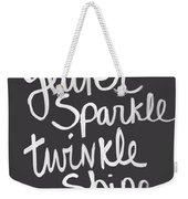 Glitter Sparkle Twinkle Weekender Tote Bag by Linda Woods