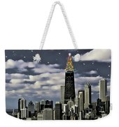 Glittering Chicago Christmas Tree Weekender Tote Bag