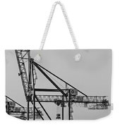Global Containers Terminal Cargo Freight Cranes Bw Weekender Tote Bag
