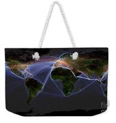 Global Transportation Map Weekender Tote Bag by Felix PD and Globaia