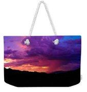 Globe Sunset Weekender Tote Bag