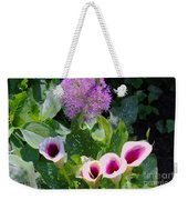 Globe Thistle And Calla Lilies Weekender Tote Bag by Corey Ford